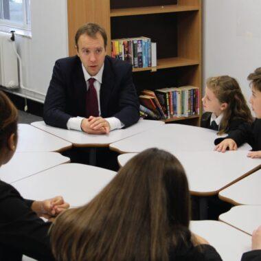 MP visits Ixworth Free School