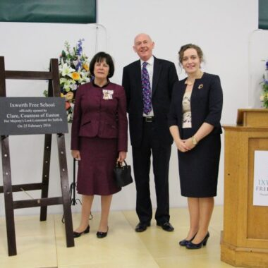 Lord-Lieutenant officially opens Ixworth Free School