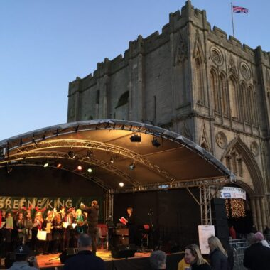 School Choir Sing at Bury Christmas Markets