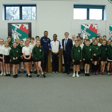 Inspirational Olympians share their skills with Ixworth Free School students