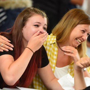 Students at Ixworth Free School celebrate GCSE results