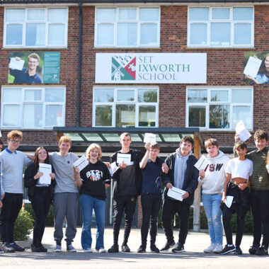 Students at Ixworth School celebrate GCSE results