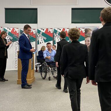 Para-triathlete inspires Ixworth students at annual Achievement Evening