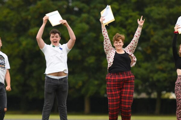 Students at SET Ixworth leap for joy with their GCSE results